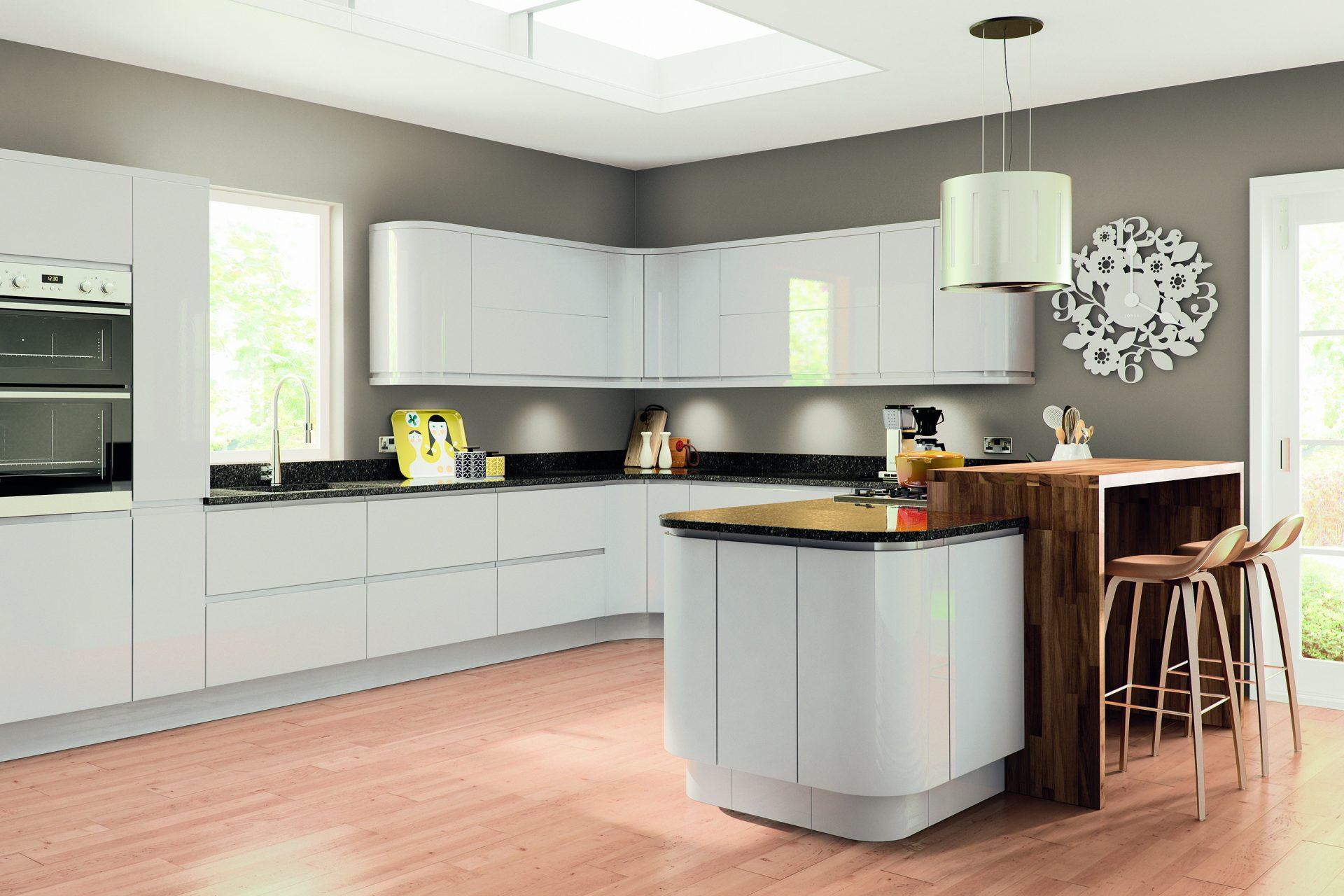 Lacarre Gloss Light Grey Kitchen